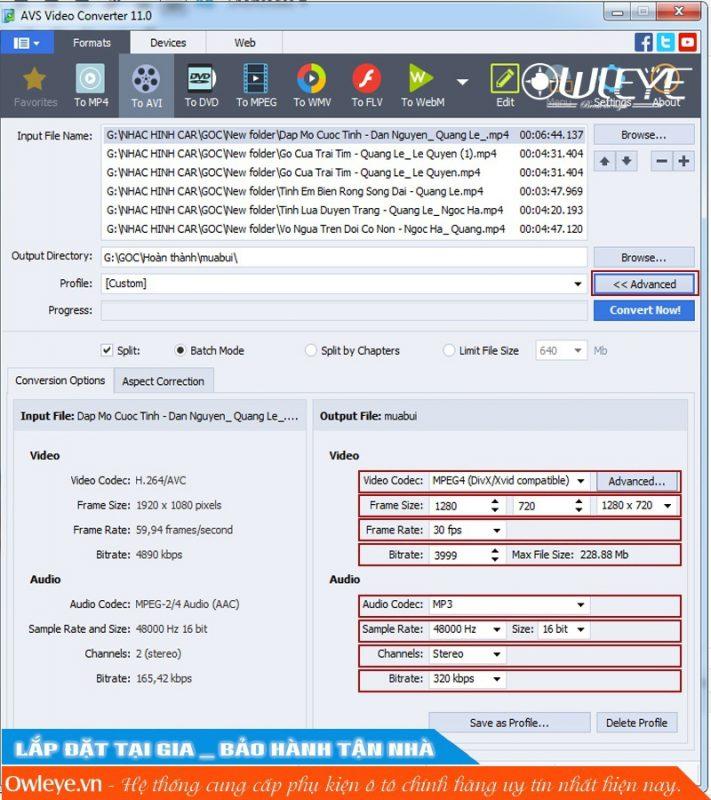 Huong Dan Chuyen Duoi Cho Usb Nhac Hinh Tren O To Voi Phan Mem Avs Video Converter 3